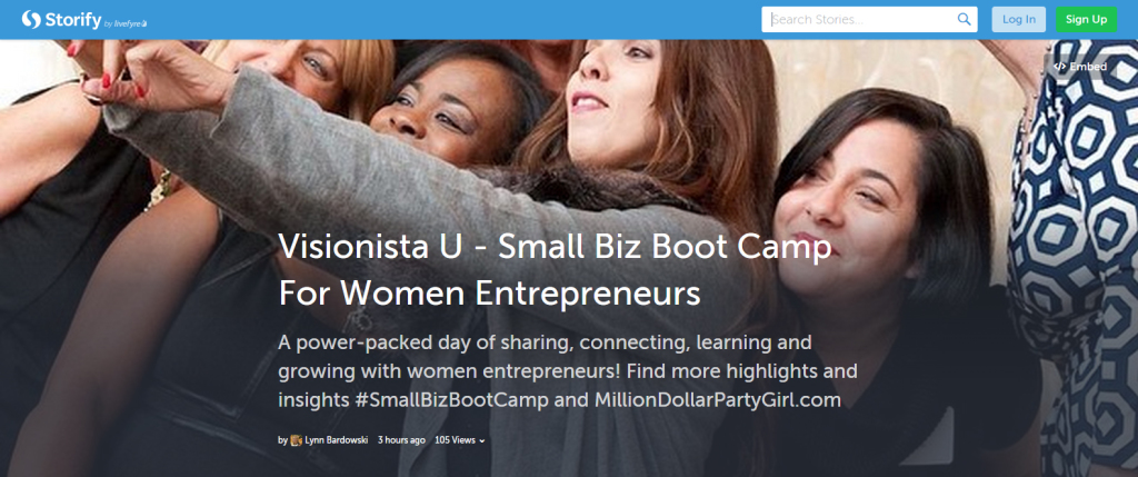 Highlights from Visionista U: Small Biz Boot Camp via Storify